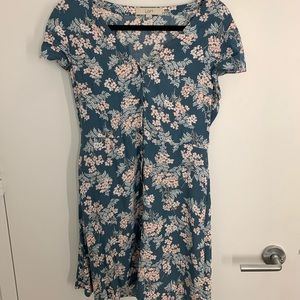 Loft Floral Button Down Mini Dress